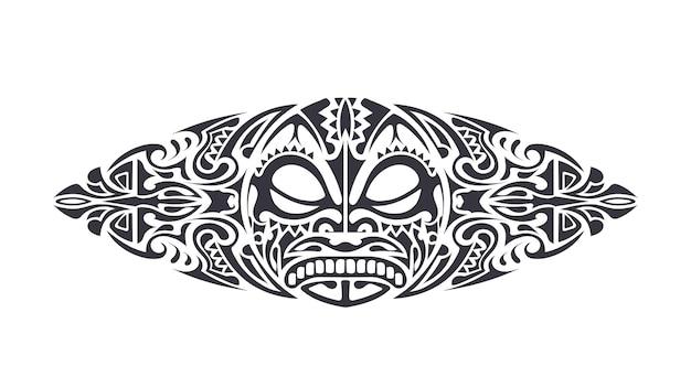 Татуировка в полинезийском стиле. образец полинезии. изолированный. вектор.