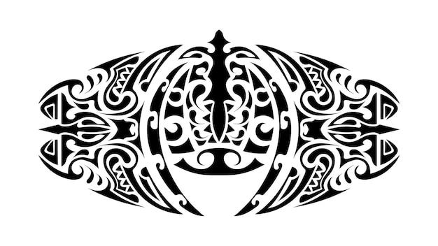 ポリネシア風のタトゥー。ポリネシアパターン。孤立。ベクター。