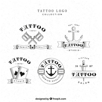 Tattoo logos selection, black and white