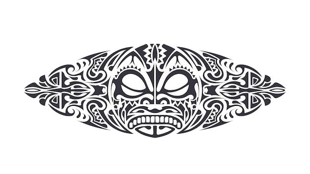 Tattoo in polynesian style. polynesia pattern. isolated. vector.