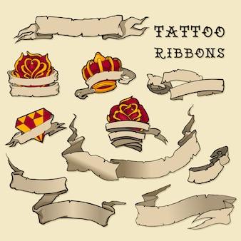 Tattoo ribbon set