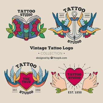 Tattoo studio logo collection