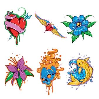 Набор векторных татуировки