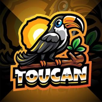 Taucan esport mascot logo design Premium Vector