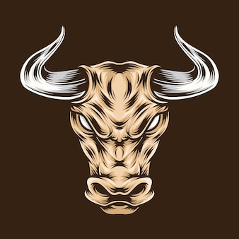 Taurus head illustration