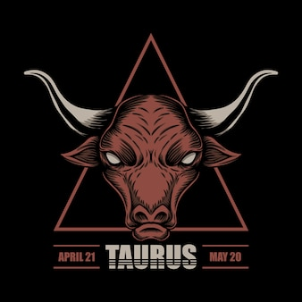 Taurus zodiac illustration