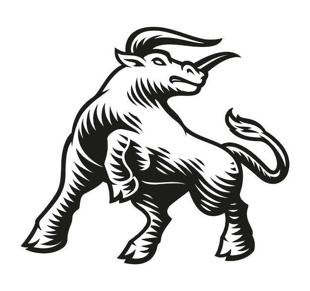 Taurus zodiac sign isolated on white