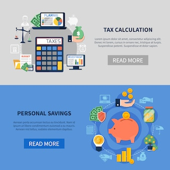 Tax calculation horizontal banners