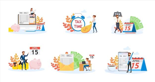 세금 개념. 회계 및 지불에 대한 아이디어. 재정적 인
