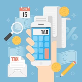 Tax concept.