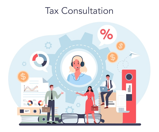 Иллюстрация концепции налогового консультанта