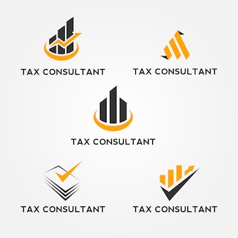 Tax consultant logo set