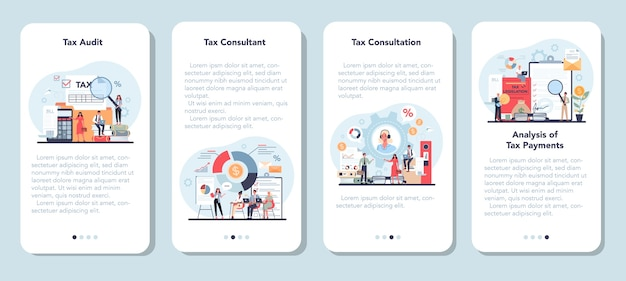 Набор баннеров для мобильного приложения налогового консультанта