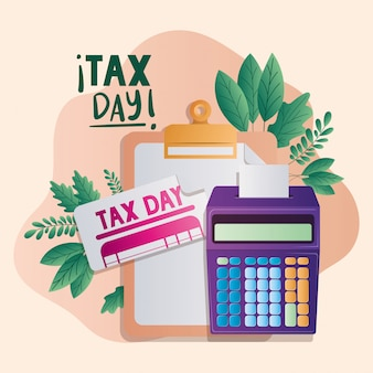 納税日のドキュメントと計算機