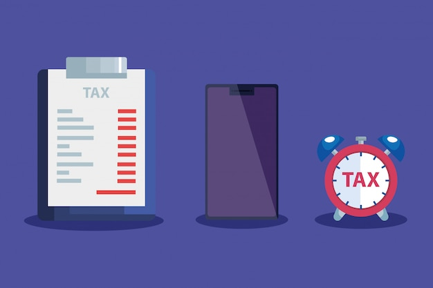 Tax day illustration with clipboard
