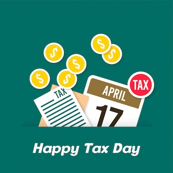 Tax day illustration