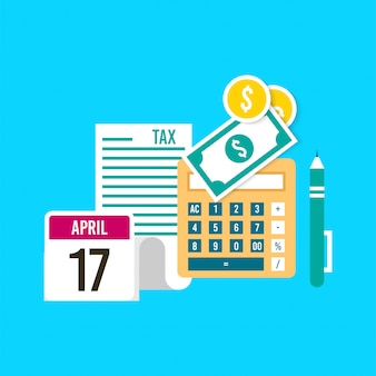 Tax day illustration