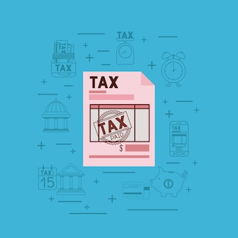 Tax day set icons