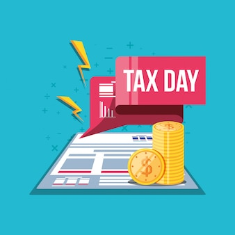 Tax day with document