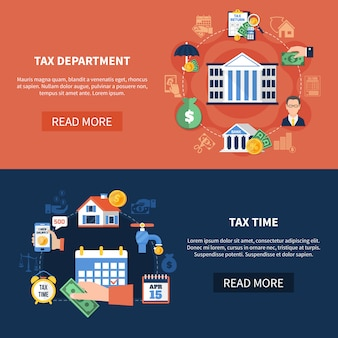 Tax department horizontal banners