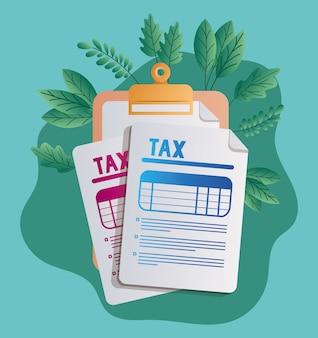 税務書類と休暇