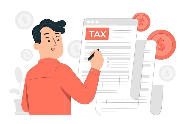 Illustrazione del concetto di modulo fiscale