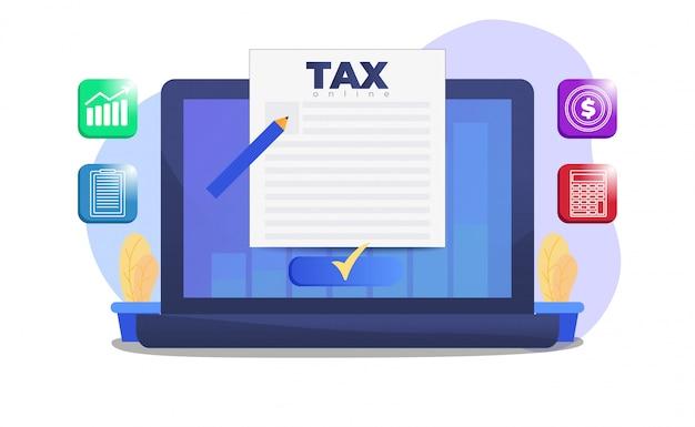 Налоговая форма на экране ноутбука