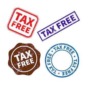 Tax free rubber stamp