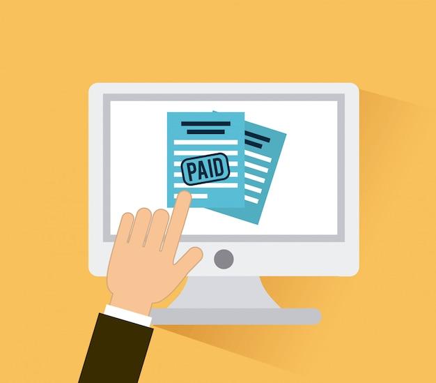 Tax icon over cream  background vector illustration