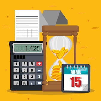 Tax obligations and economy icons