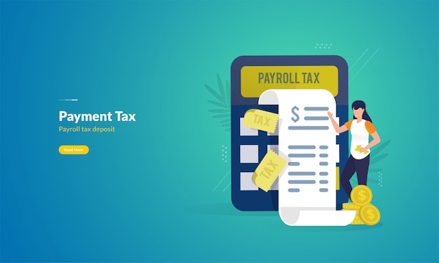 Tax payment report illustration concept