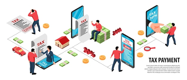 Tax service infographics