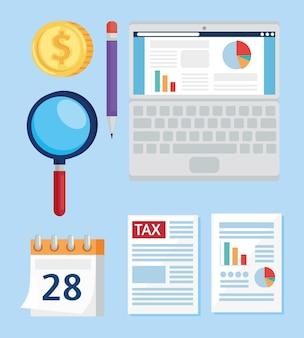 Набор налоговых символов