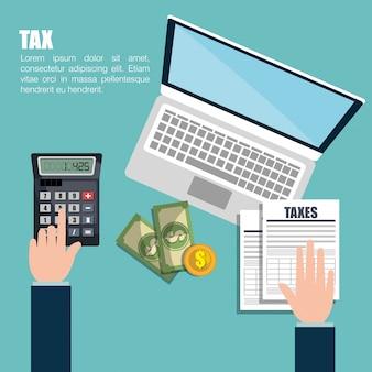 税金の時間の設計 Premiumベクター