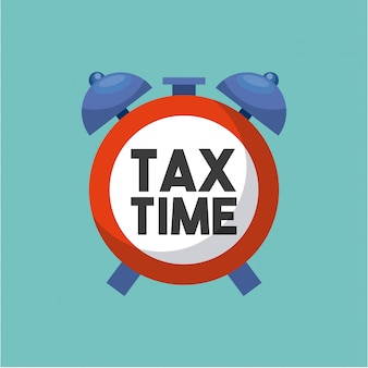 Tax time flat icons