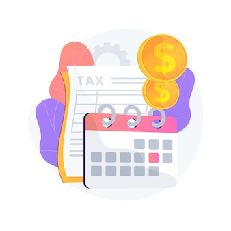 Tax year abstract concept illustration