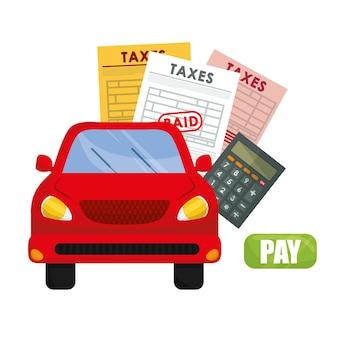 Концепция налогов с дизайном значков