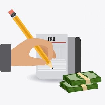 Taxes design.