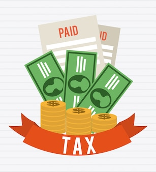 Taxes graphic design