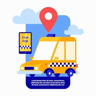 Taxi concept design del servizio app