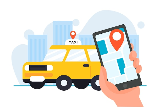 Taxi application concept