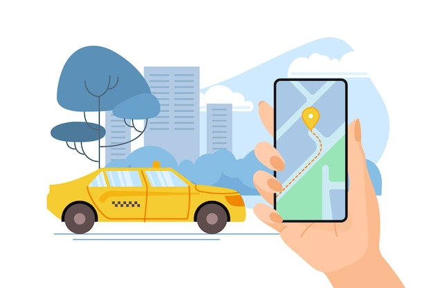 Taxi application theme