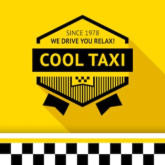 Taxi badge with shadow - 02