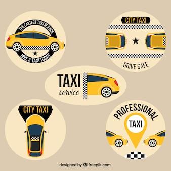 Taxi badges set