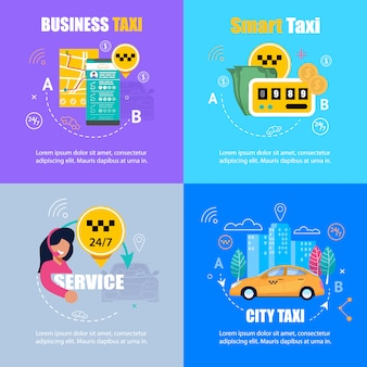 Taxi banner set.