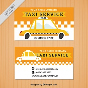Taxi banners in vintage style
