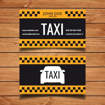 Modello di biglietto da visita di taxi