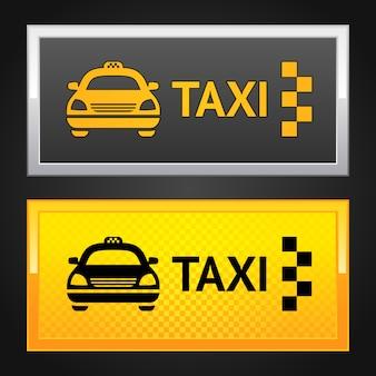 Taxi cab set label