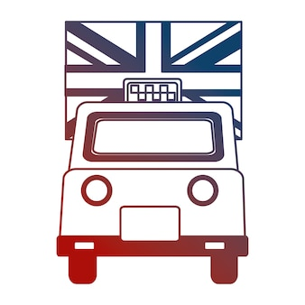 Taxi cab transport england flag design v