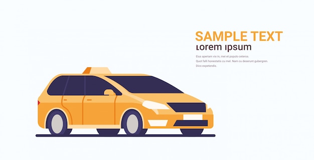 タクシー車アイコンタクシー自動車旅客輸送サービスコンセプト